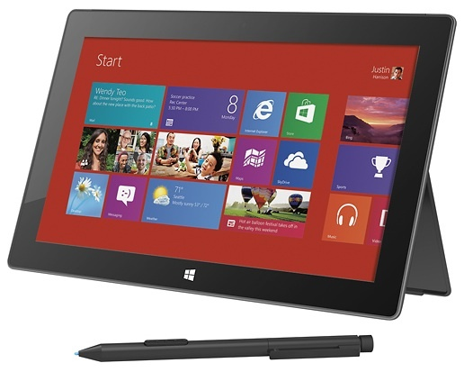 Microsoft's Surface tablet with Windows 8 Pro comes with a fast solid-state drive -- some are sourced from Micron Technology.