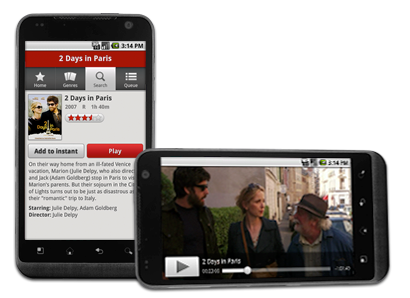 Netflix on Android smartphone