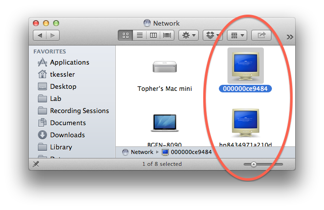 Windows networking in OS X