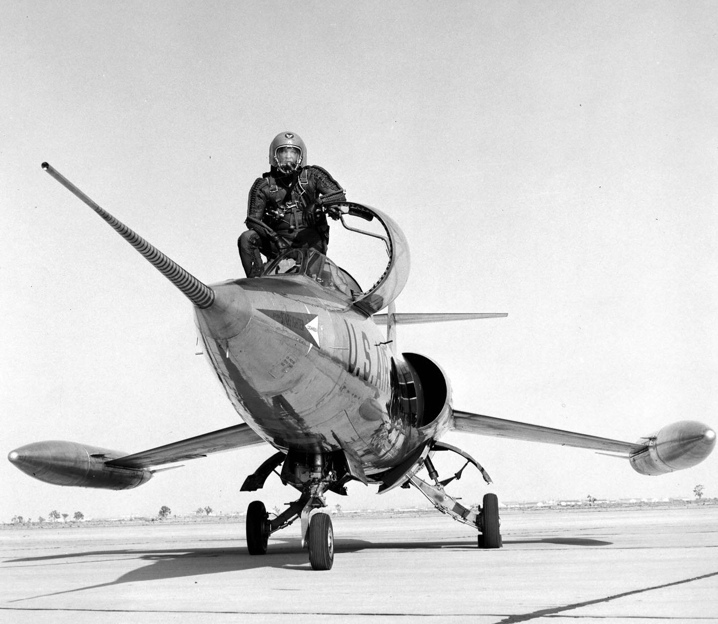 Test pilot and XF-104