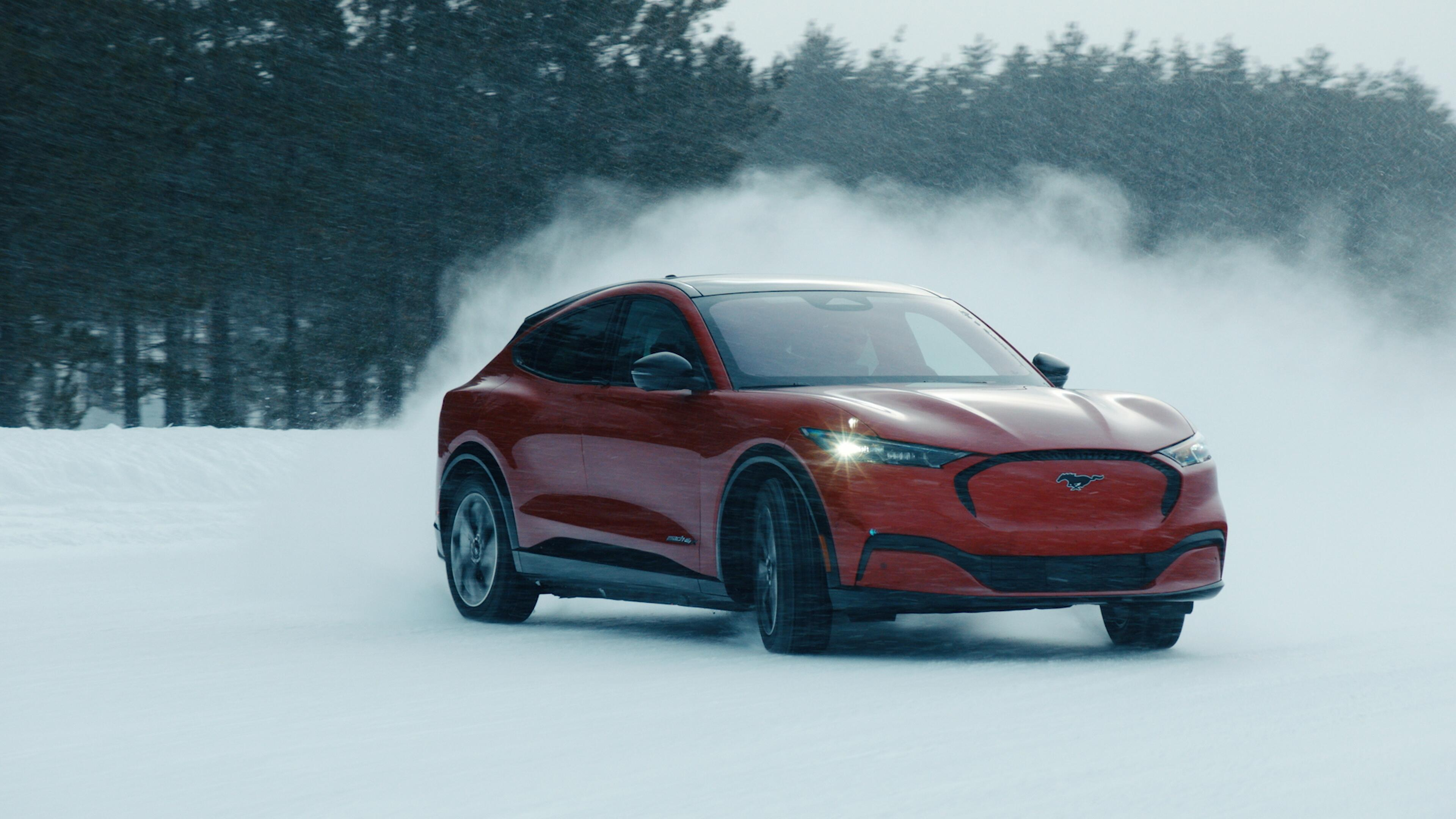 2021 Ford Mustang Mach-E winter test