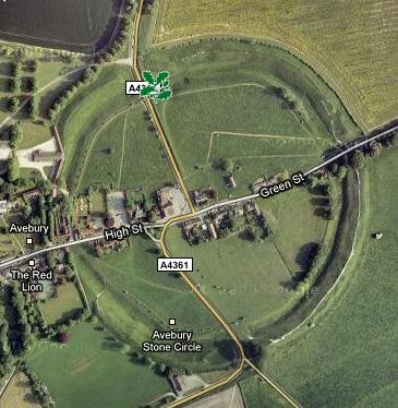 Avebury's ancient stone circle on Google Maps. You can tour the circle on Street View, complete with sheep dotting the landscape.