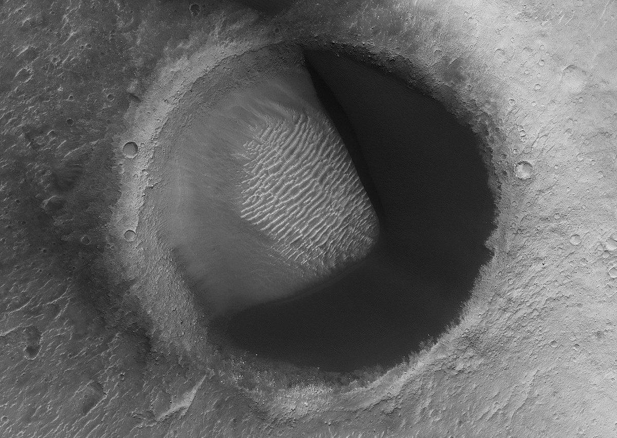 Pac-Man crater on Mars