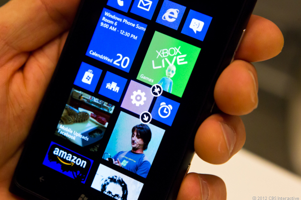 Windows Phone's new home screen, as demoed by the company this week.