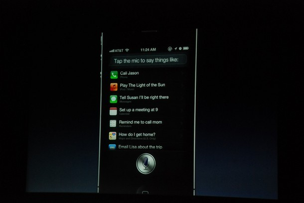 Some of the options found within Siri.