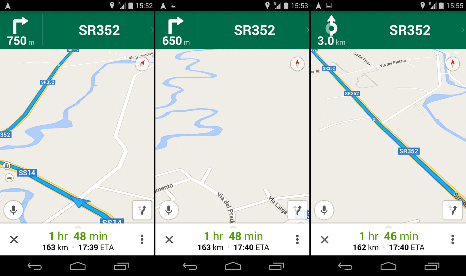 Google Maps had screen orientation issues and sometimes wouldn't even show where on the map it thought we were.