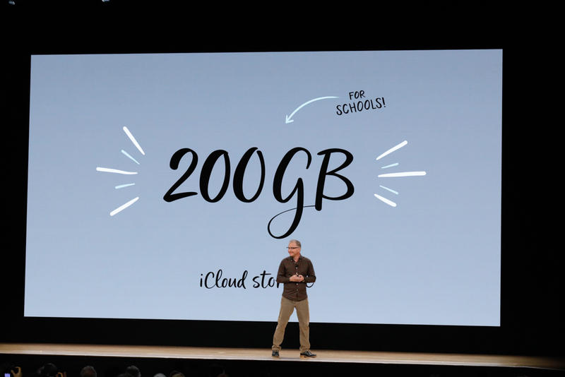 Apple offers 200GB of iCloud for students, a big step up from the ordinary 5GB free level.