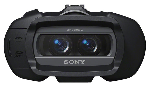 Sony's DEV-5 digital binoculars, with an image sensor and electronic viewfinder, can record 3D video.