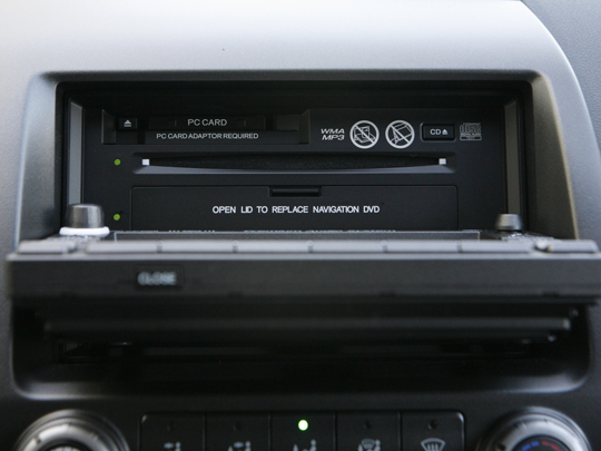 CD and PC Card slot