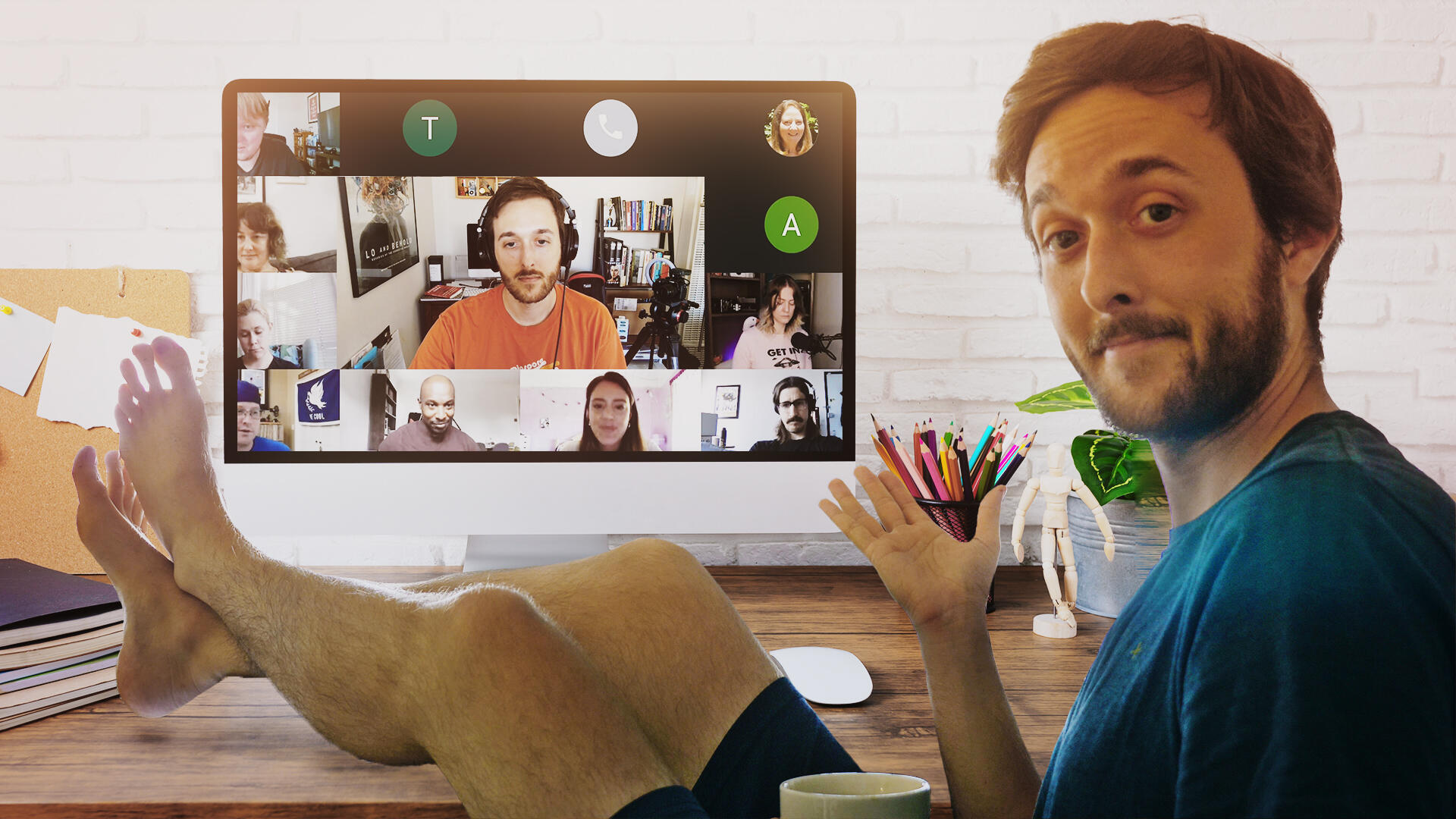 Video: How I automated my presence in video calls for a week (and nobody knew)