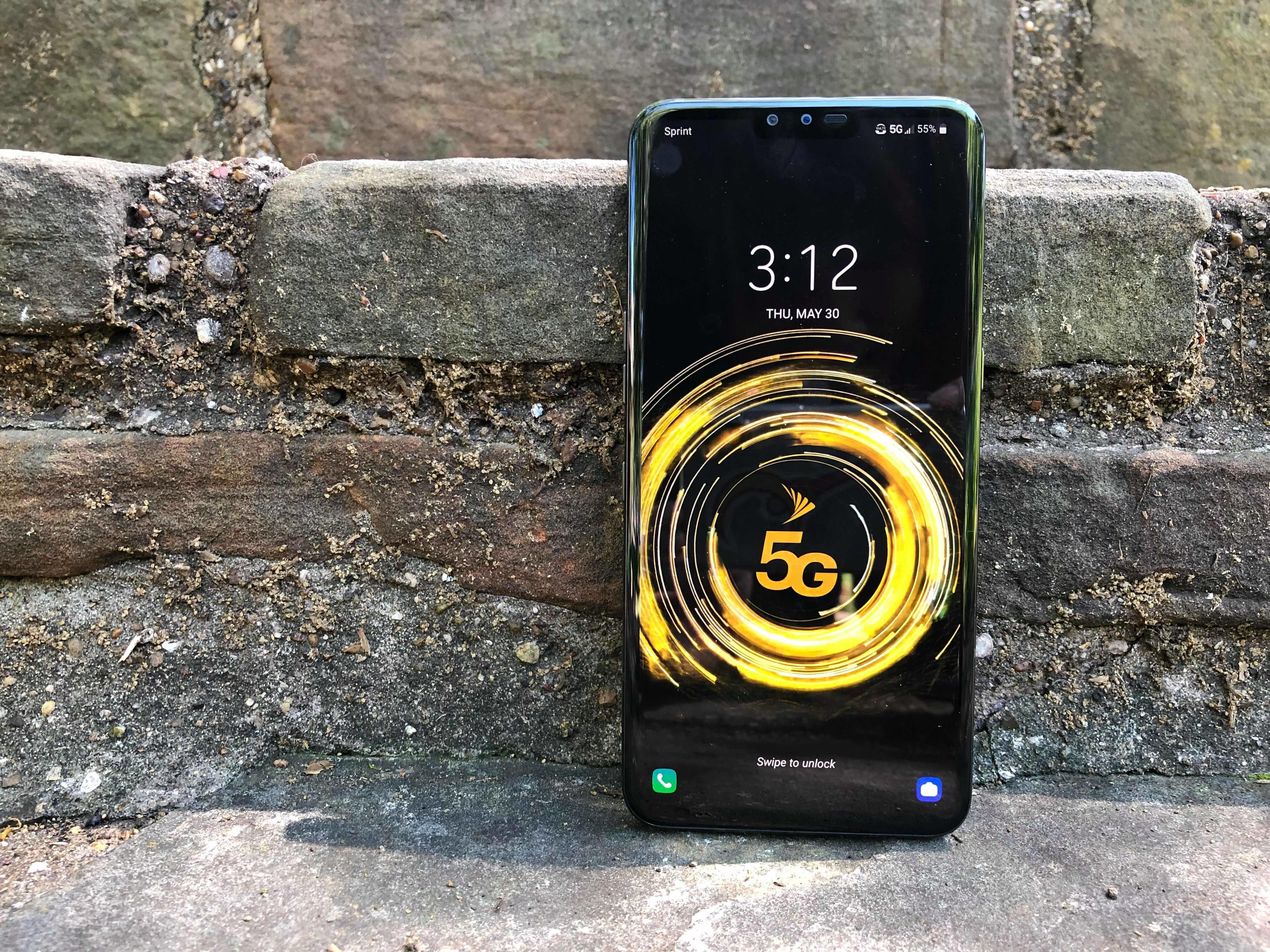 <p>The V50 ThinQ is LG and Sprint's first 5G phone.</p>