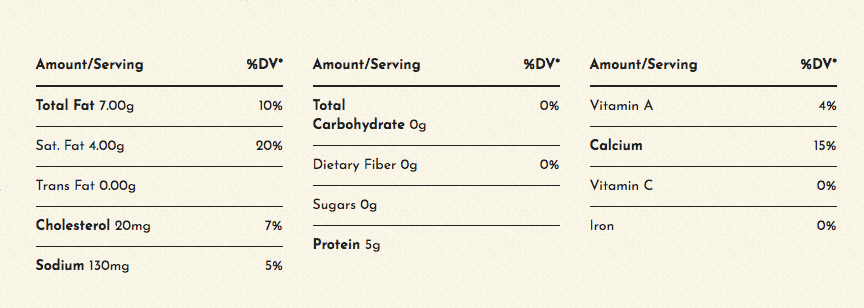 sargento-nutrition-facts