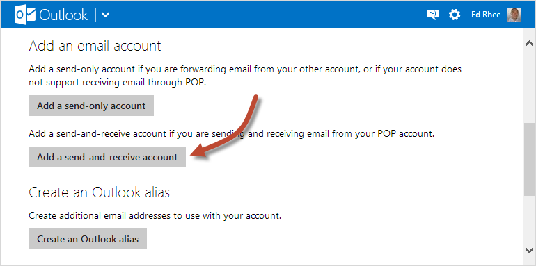 Add send-and-receive account