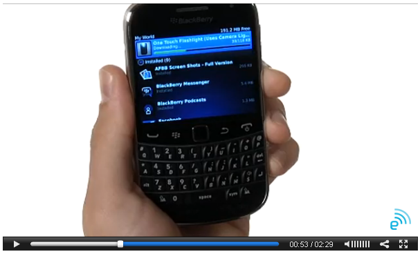 BlackBerry Bold 9930 video released early
