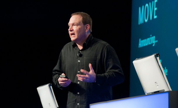 Former Microsoft server and tools division president talking to attendees of Microsoft's PDC conference in 2010.