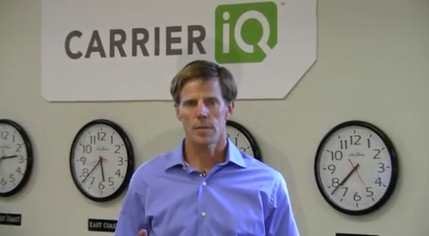 Larry Lenhart, CEO of Carrier IQ, talks about the software in this promotional video. The company is facing lawsuits and potential regulatory probes over its mobile diagnostic software that critics say violates user privacy.