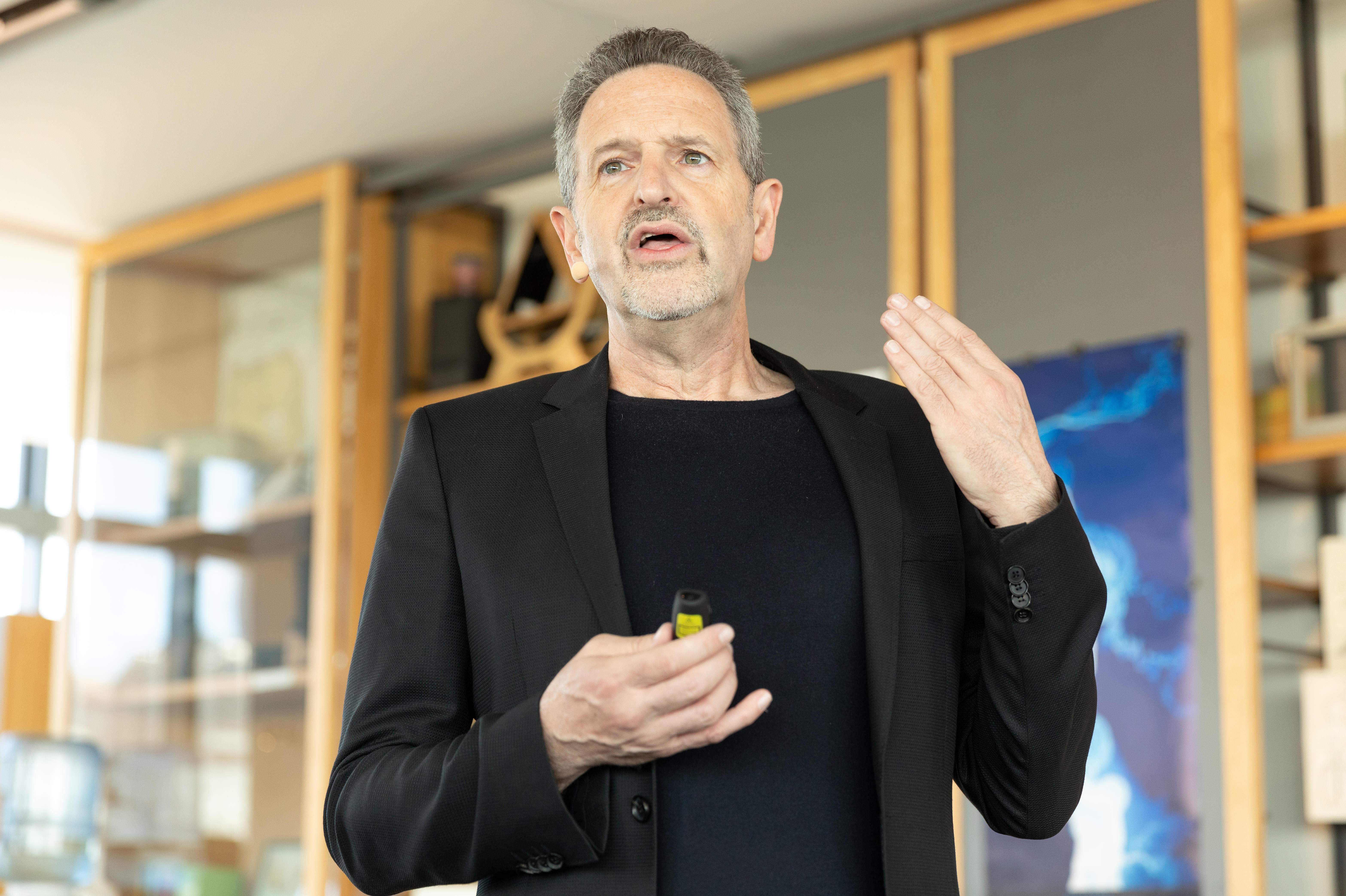Rene Haas, president of Arm's intellectual property licensing group, announces faster new processors due to arrive in 2019.