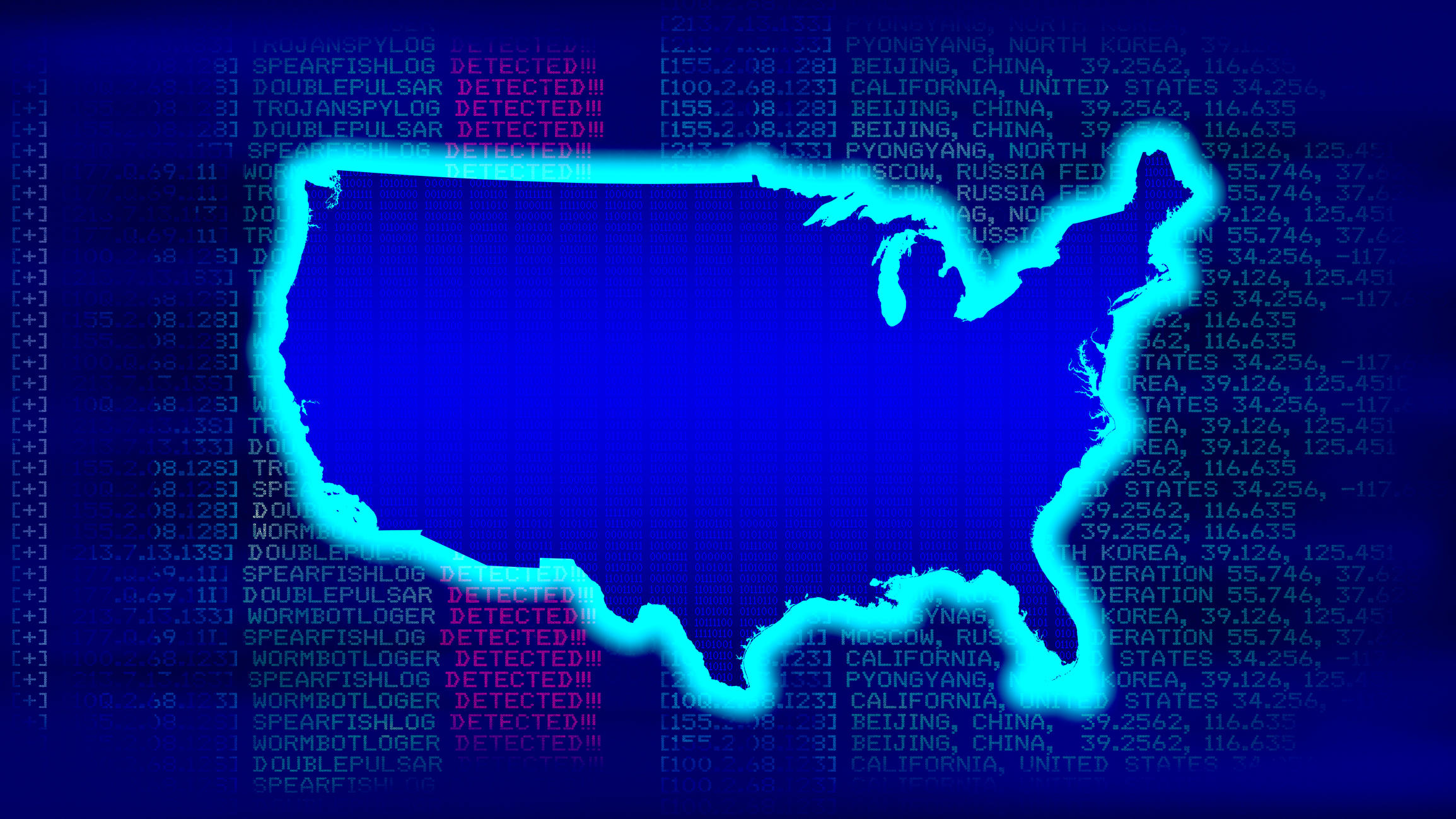 United States Map with Malicious code
