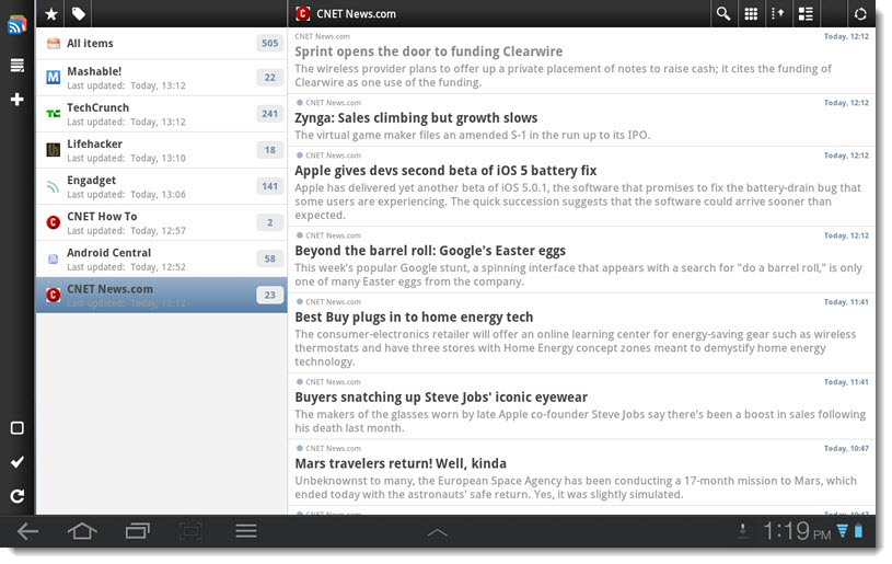 gReader for Android