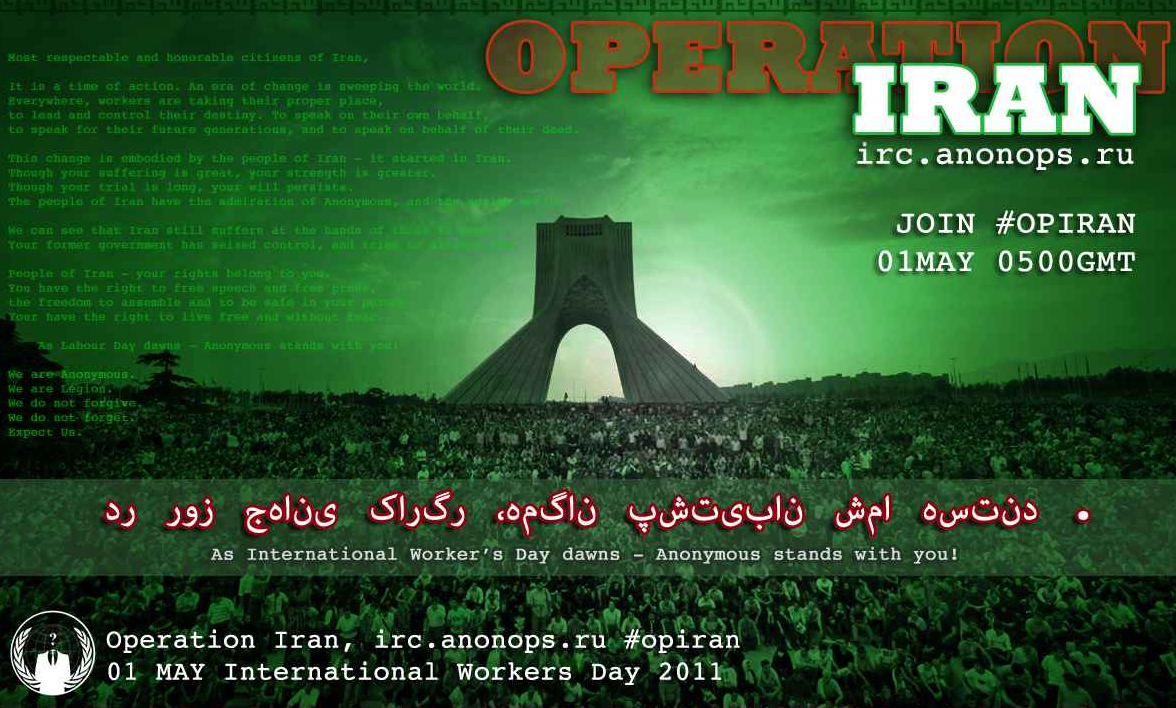 Anonymous says its next target is Iran.