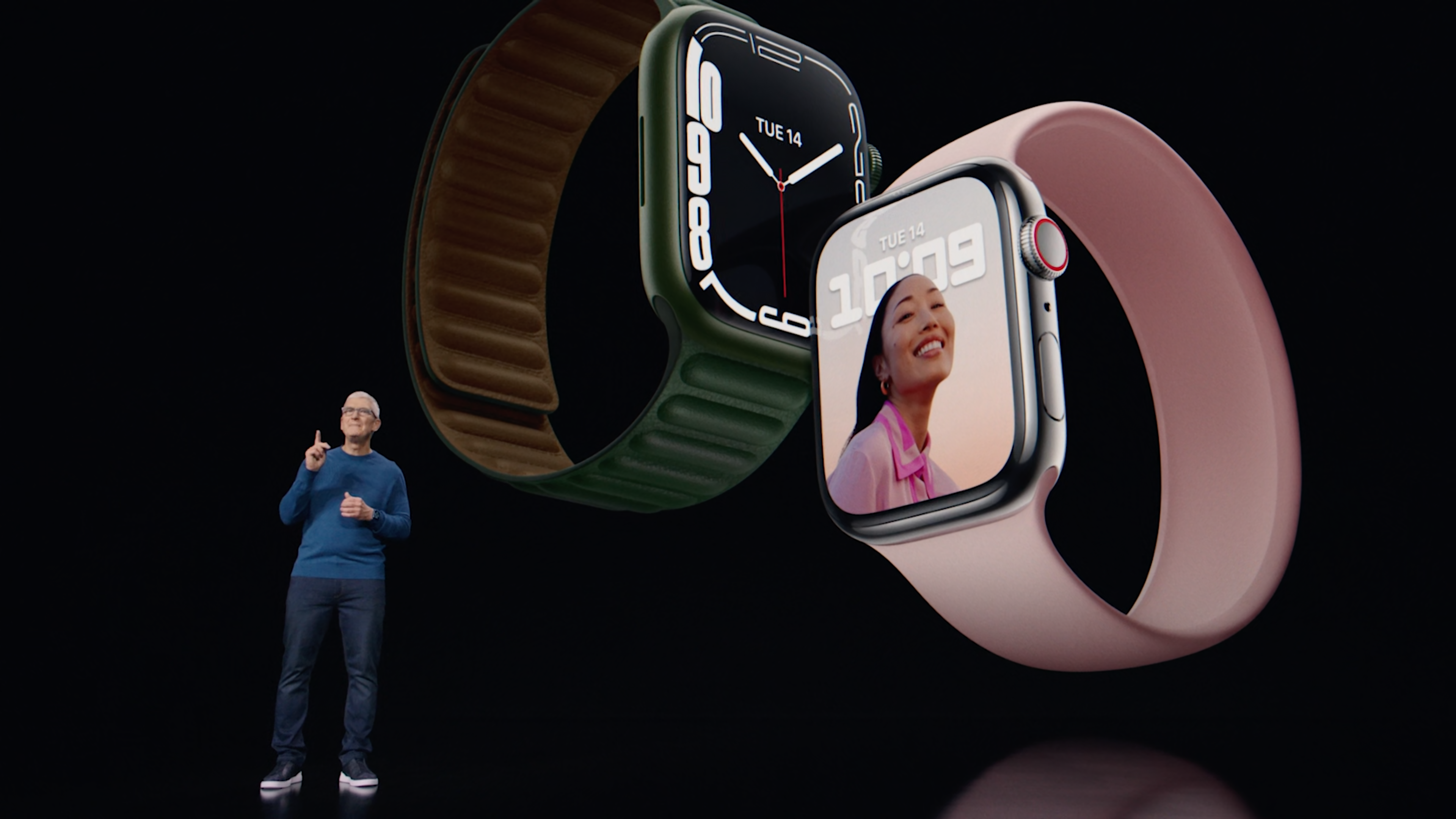 Tim Cook announces the Apple Watch Series 7