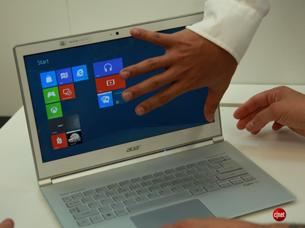 The Acer Aspire S7 touch-screen Windows 8 laptop.