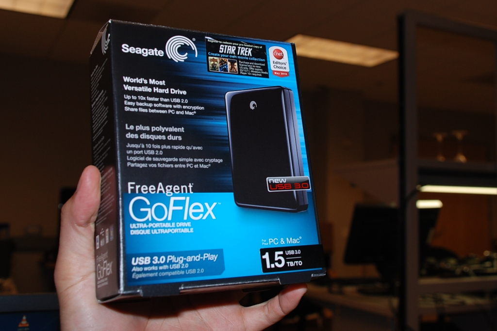 Seagate's new 1.5TB FreeAgent GoFlex Ultra-portable has the same design as the rest of the GoFlex family.
