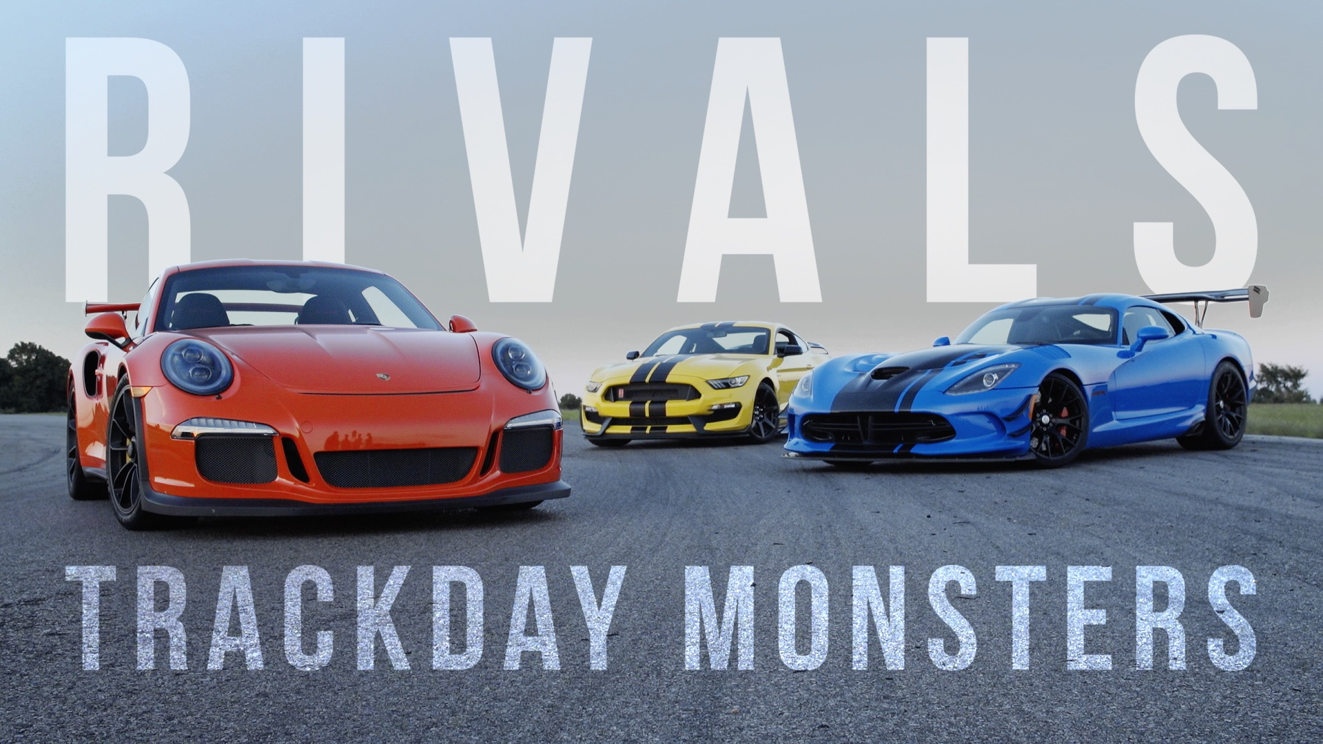 Video: Rivals: Ford Mustang GT350R vs. Dodge Viper ACR vs. Porsche GT3 RS