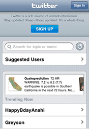 Twitter's new official iPhone app.