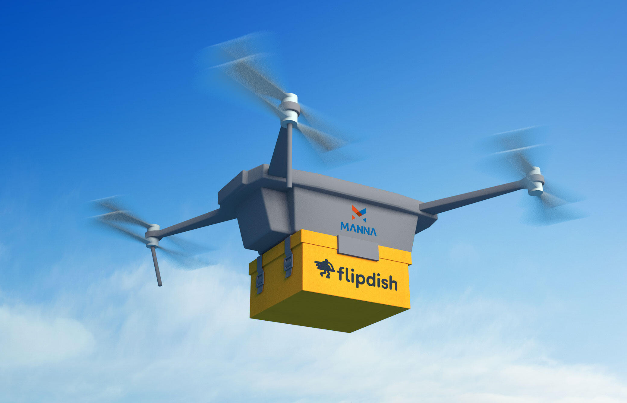 Manna-Flipdish drone delivery
