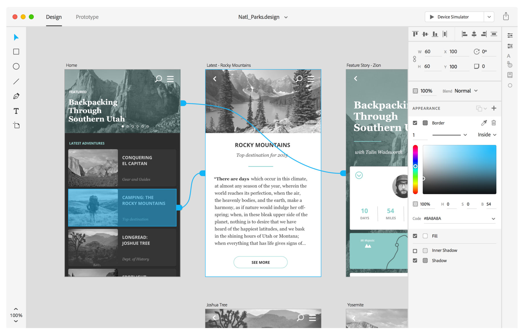 Adobe's Project Comet is geared for people designing app user interfaces.