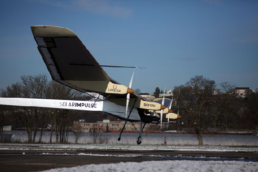 The Solar Impluse lifts off for first test flight
