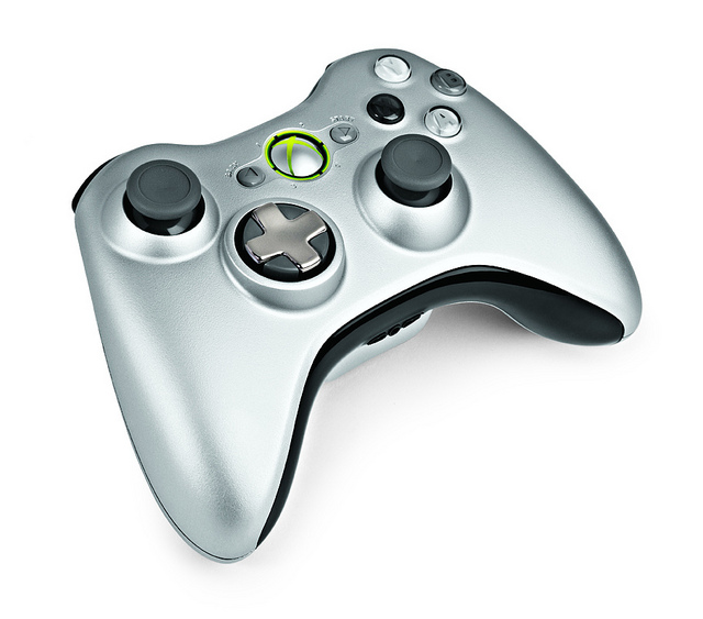 The new wireless Xbox 360 controller.