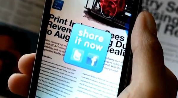 augmented reality scan-to-share app