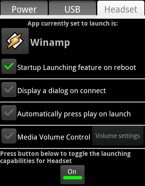 Plug In Launcher Winamp Selected