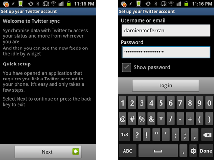 How to make your Samsung Galaxy S2 a social network powerhouse: step 2.3