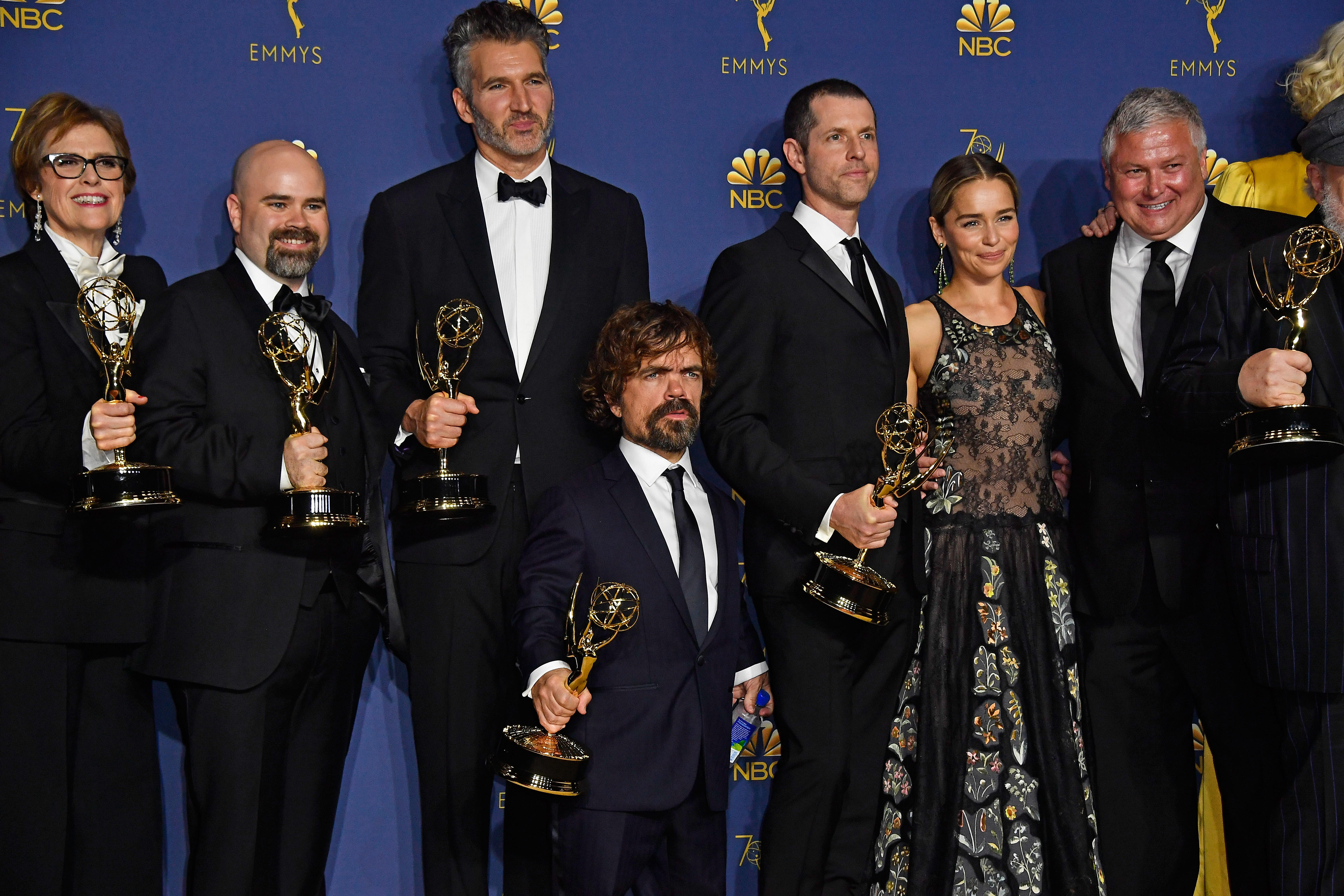 Game of Thrones cast and crew at the 70th Emmy Awards in September 2018