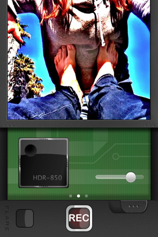 The Flare HDR video app in action.
