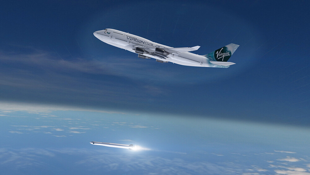 ​Virgin Orbit plans to get small satellites into space cheaply and flexibly with small rockets launched from a jet.