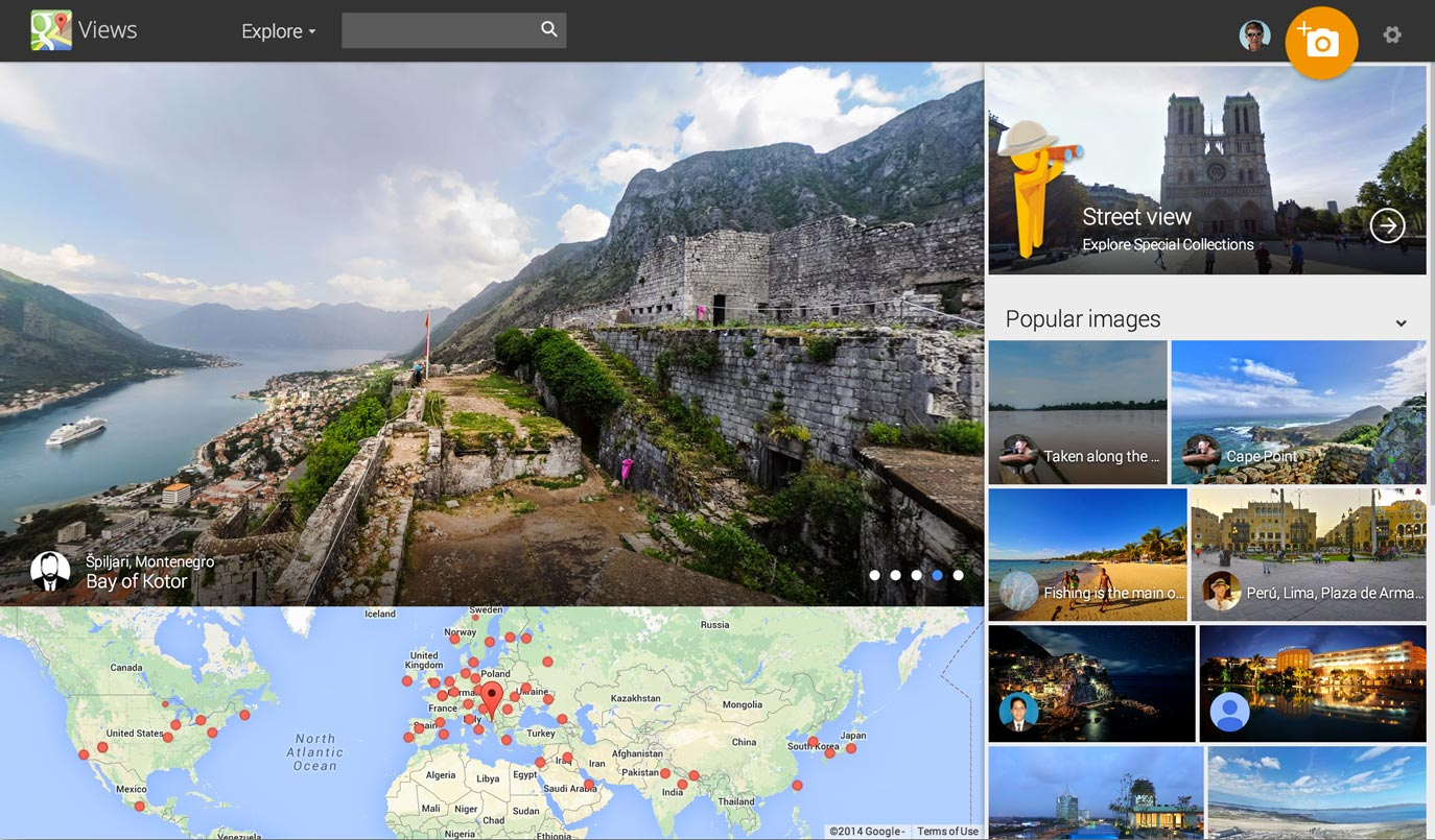 Google Views lets people explore parts of the world. The shots also are used on Google Maps, meaning that millions of people see photographers' images Google showcases there.