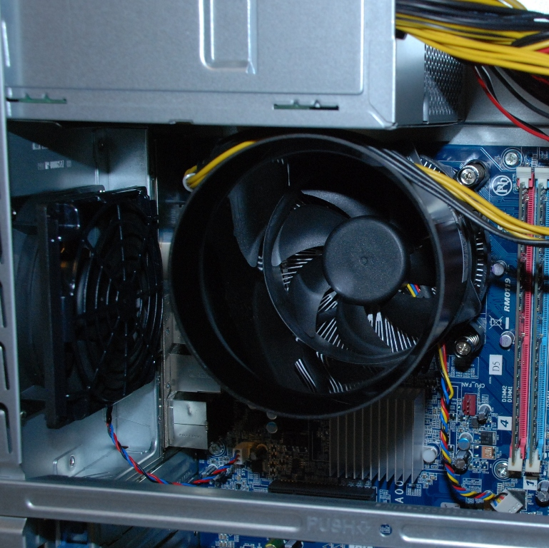 And here we have the current state-of-the-art cooling system of a high-end desktop computer.
