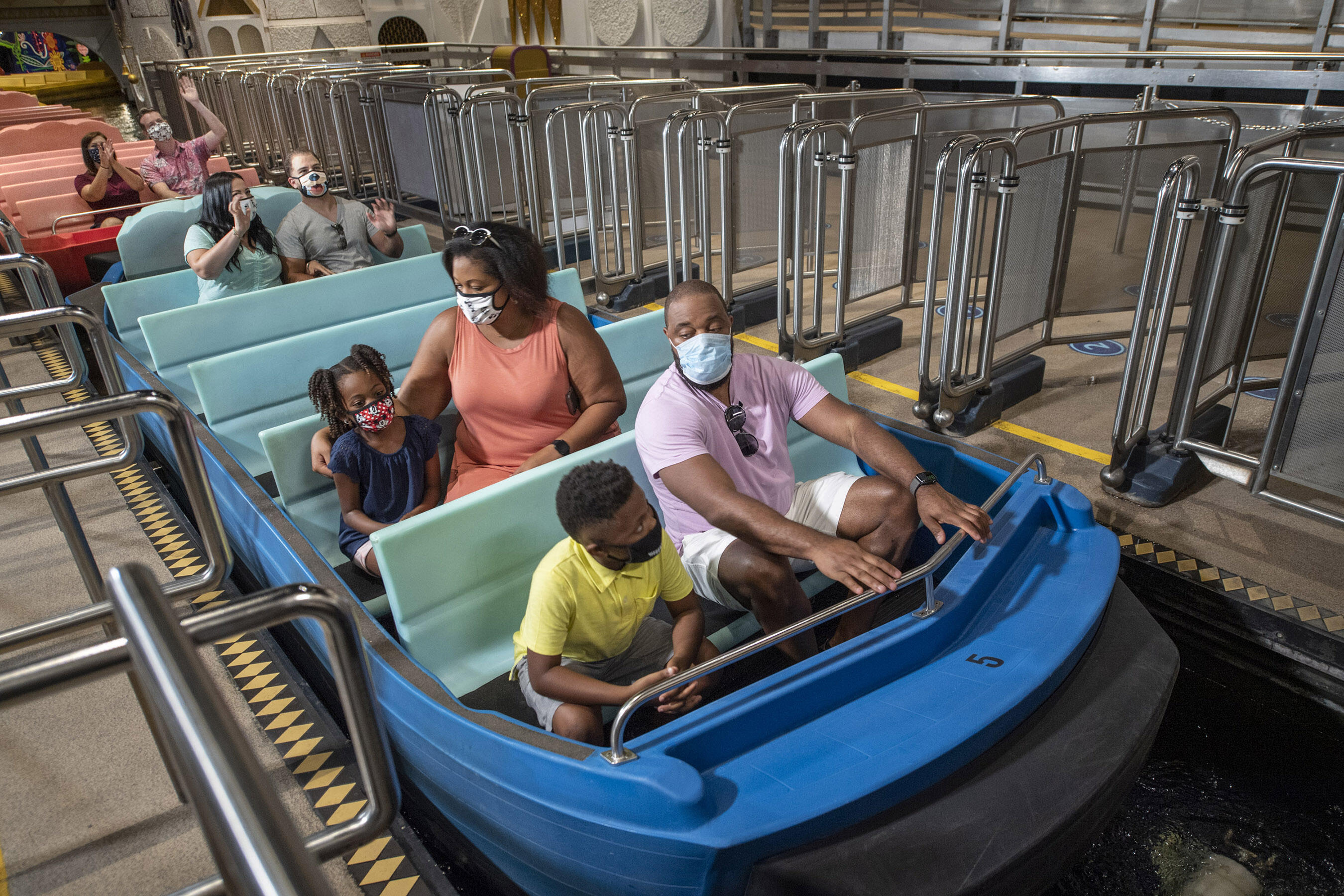 Disney World reopening attraction boarding