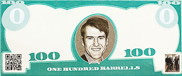 Opera Software is trying to get its employees to help promote Opera Mobile and Mini for Android with this fake money featuring CFO Erik Harrell.