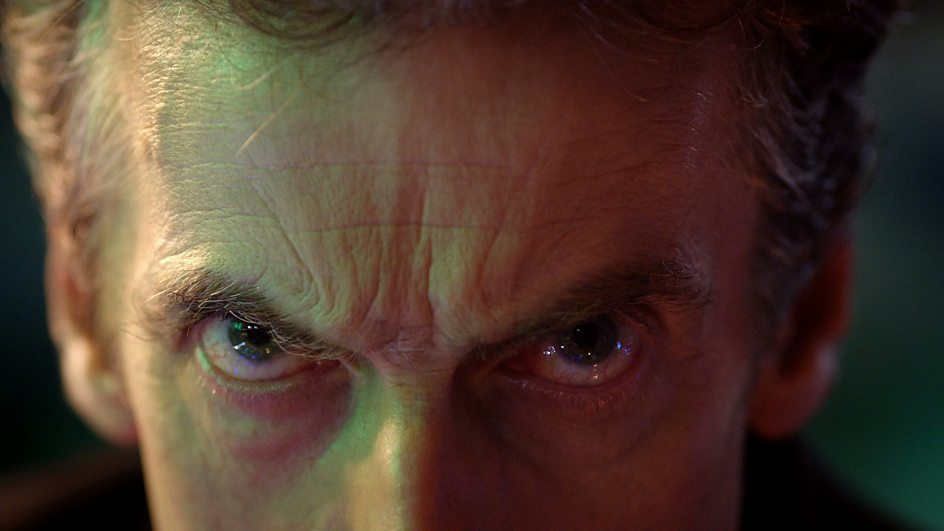 Peter Capaldi's intense glare could probably stop time in its tracks.