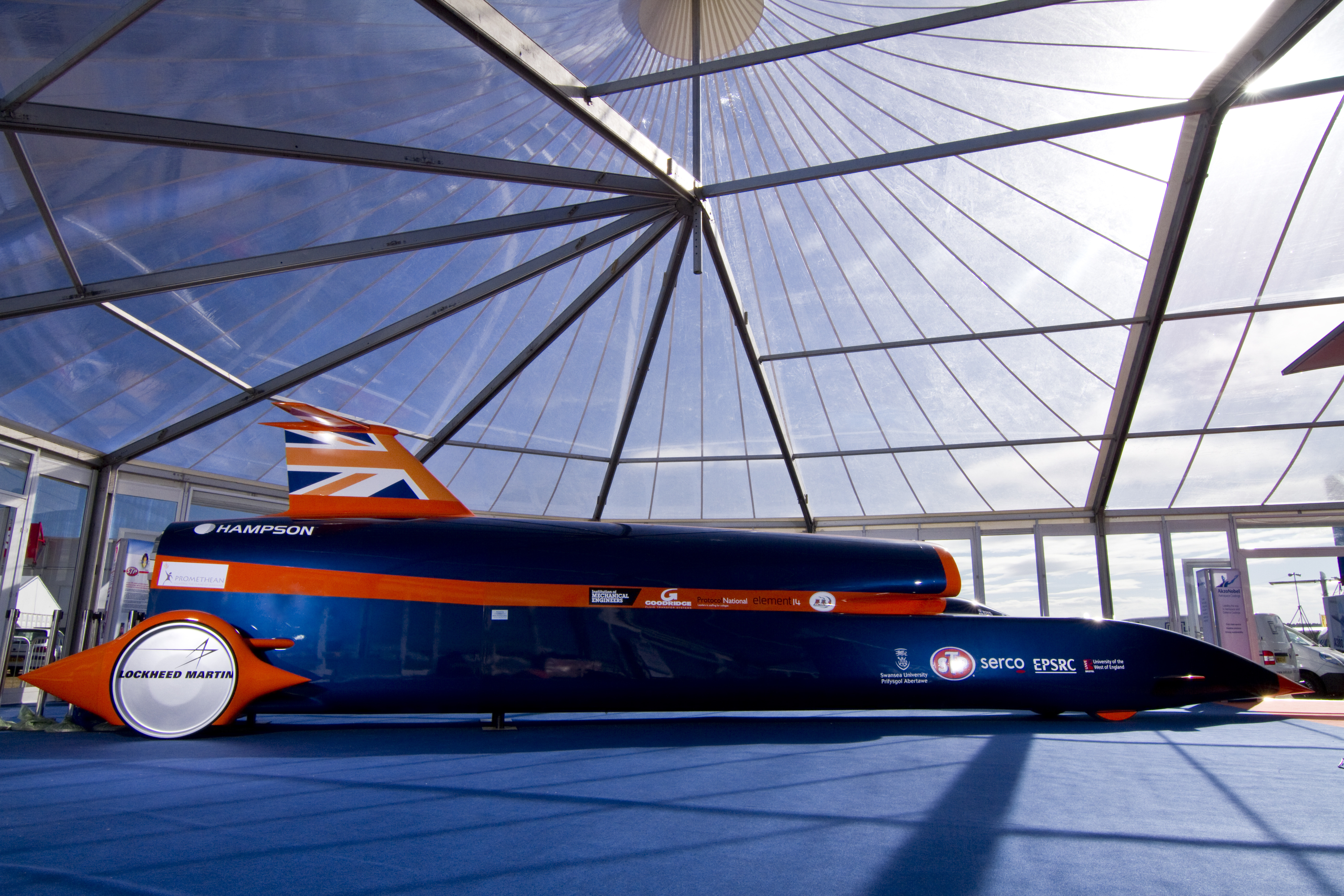 Side view of the Bloodhound SSC