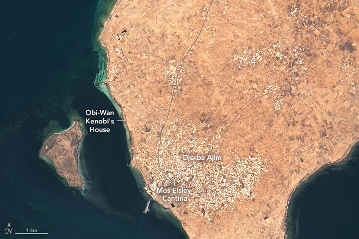 Tatooine seen from space