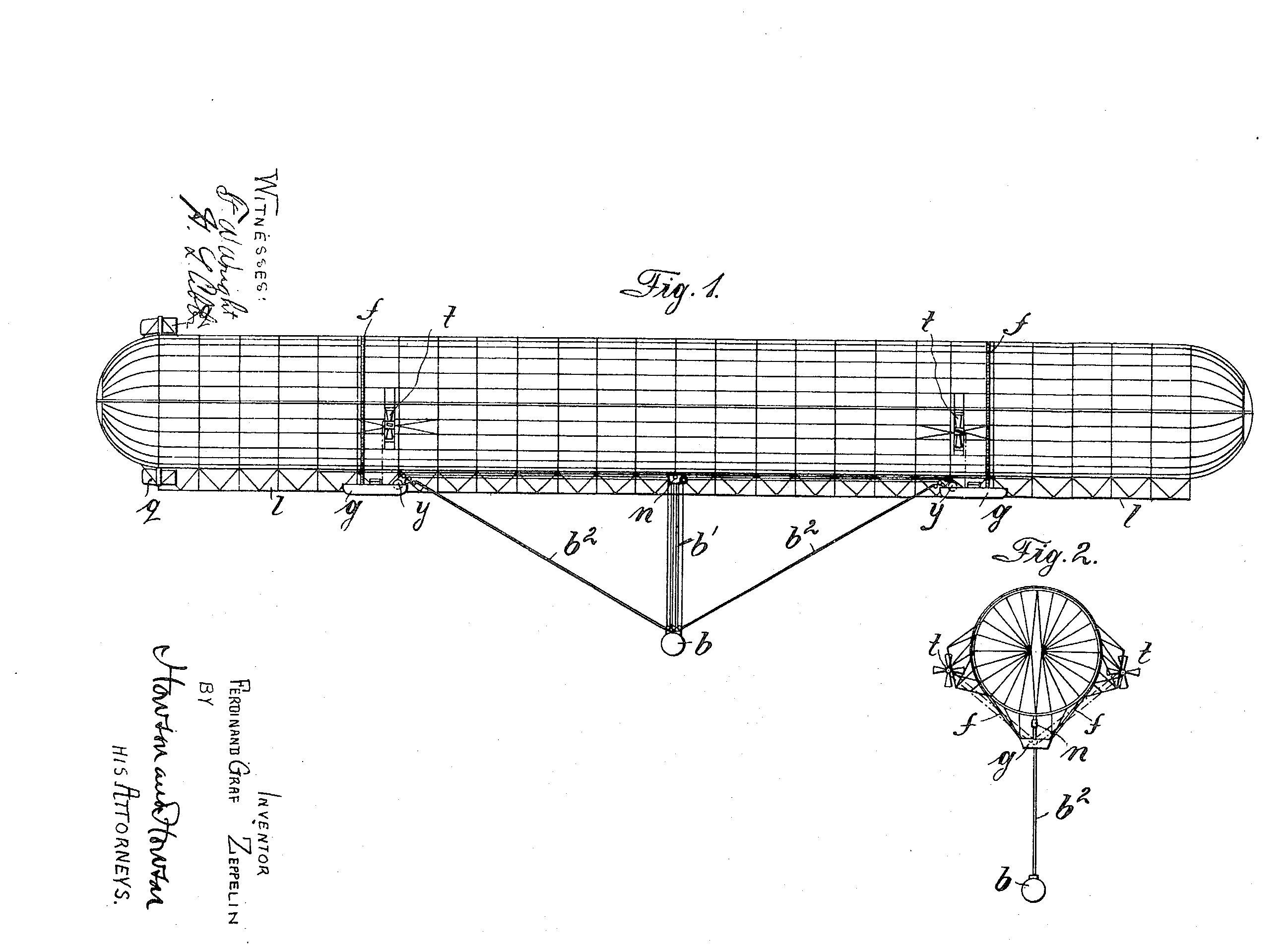 1899: Zeppelin patent issued