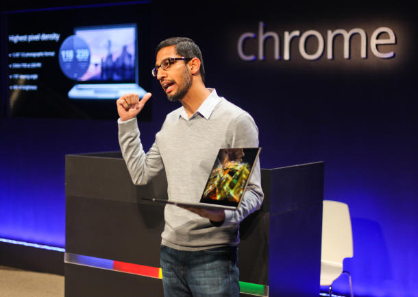 Sundar Pichai, Google's senior vice president of engineering in charge of Chrome, the Google Apps, and now Android.