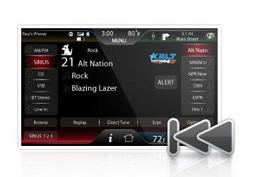 Ford's MyLincoln and MyFord Touch enables you to record up to 45 minutes of a SIRIUS XM satellite radio station and set alerts for your favorite artists.