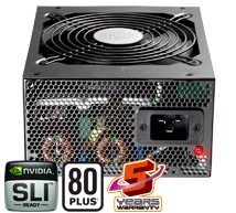 A 1,250-watt power supply--this one from Cooler Master--is the largest a game PC maker will install today.